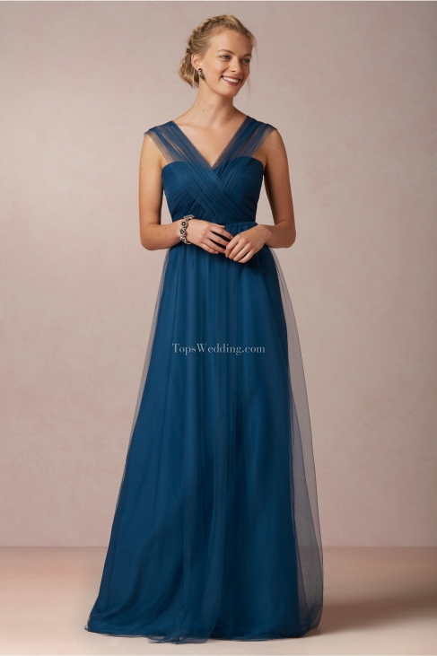 Unique-blue-long-bridesmaid-dresses-with-tulle-straps-and-special-back-BRD05
